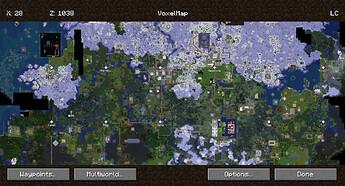 VoxelMap con la zona central del mapa cargada
