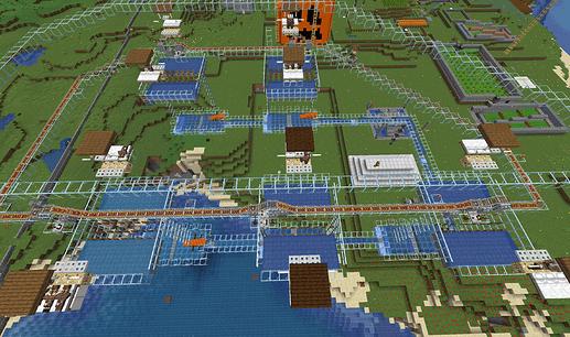 Vista aérea de la granja de hierro